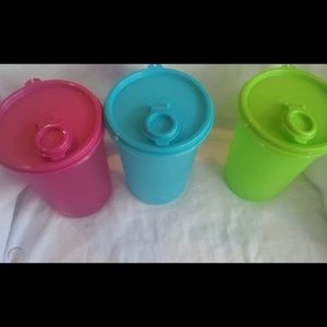 Tupperware Mega stumbler 3 piece Set